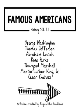 {Freebie!!} Famous Americans Facts