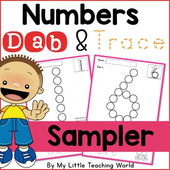 {Freebie} Numbers Dab & Trace Worksheets Sampler