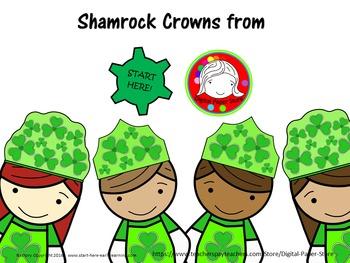 (Fresh Freebie) Shamrock Crowns and Clipart