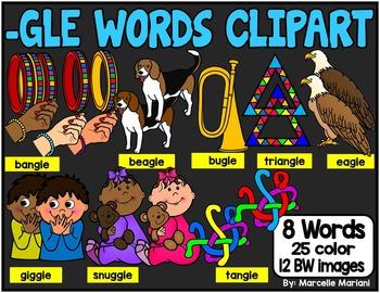 -GLE ENDING WORDS CLIP ART