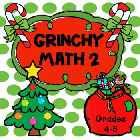 "How the Grinch Stole Christmas!   ""GRINCHY MATH II"""