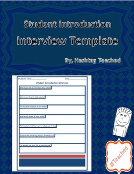 (Get To Know You) Student Introduction Interview Questions