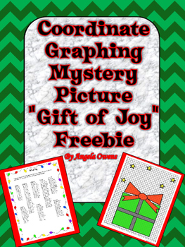 """Gift of Joy"" Christmas Coordinate Graph Freebie"