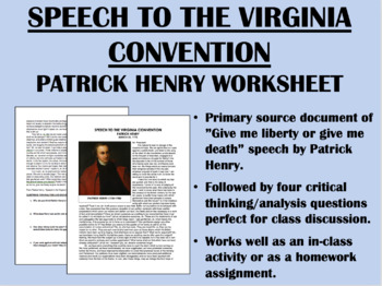 """Give Me Liberty or Give Me Death"" - Patrick Henry - Ameri"