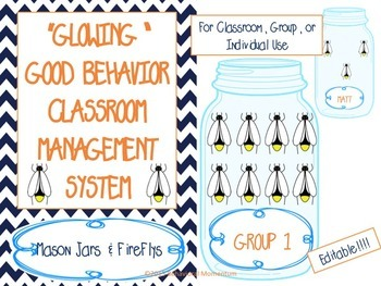 "Classroom Management System (""Glowing"" Good Behavior Jar &"
