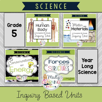 (Gr.5) Complete Inquiry Science Units *GROWING BUNDLE*