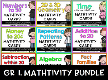 {Grade 1} Mathtivity Card Set Bundle