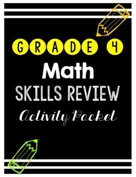 {Grade 4} Math Skills Review Activity Packet