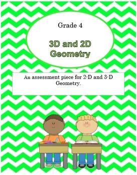 {Grade 4} Math Test 2-D and 3-D Geometry