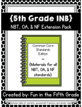 {Grade 5} NBT, OA, and NF Interactive Math Notebooks -- Ex