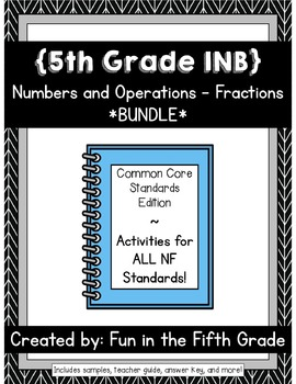 {Grade 5} NF Interactive Math Notebooks -- COMPLETE BUNDLE!