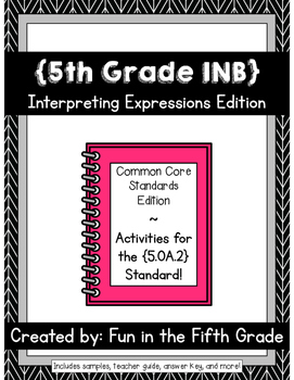 {Grade 5} OA.2 Interactive Math Notebook