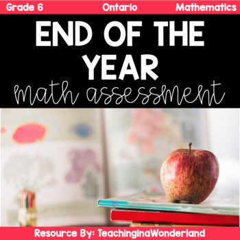 {Grade 6} Ontario End of Year Math Review