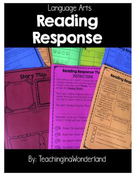 {Grades 3 - 8} Reading Response Organizers & Menus Packet