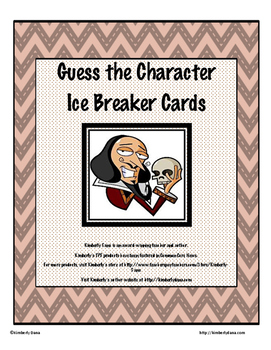"""Guess the Character"" Ice Breaker Cards"
