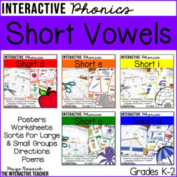 Short Vowel BUNDLE: Posters, Sorts & Worksheets