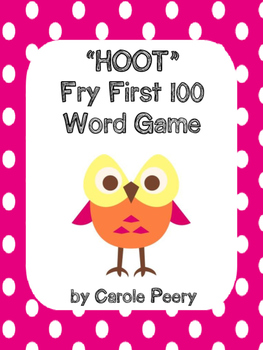 """""""HOOT"""" Fry First 100 Words Game"""