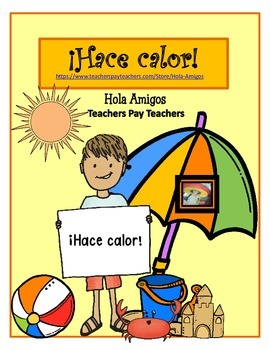 ¡Hace calor! Color by number in Spanish for summer. (2 pages)