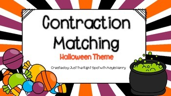 *Halloween Theme* Contraction Matching