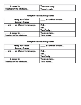 """""""Handy"""" Introduction to Non-Fiction Text Structure"""