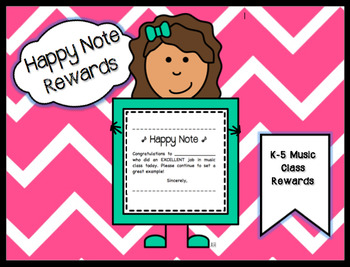 """""""Happy Note"""" Rewards for Music Class"""
