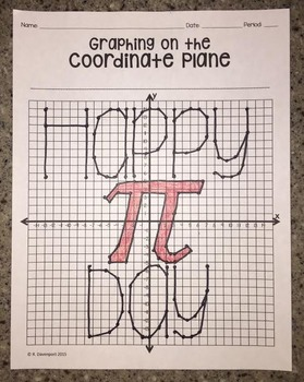 """""""Happy PI Day"""" (Graphing on the Coordinate Plane Mystery Picture)"""