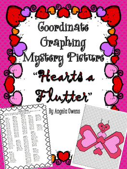 "Valentine's Day ""Hearts a Flutter"" Coordinate Grid Mystery"