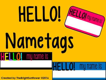 'Hello my name is' Name-tags