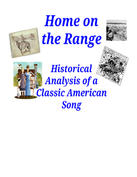 """""""Home on the Range"""" - Primary Source Analysis"""