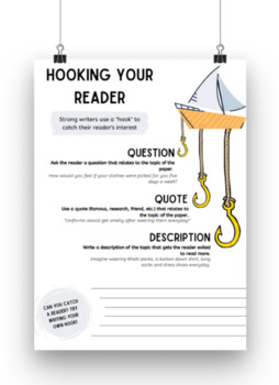 """Hooking Your Reader"" Topic Sentence Tips for Persuasive Writing"
