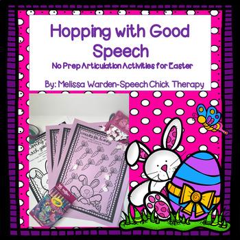 """""""Hopping Along with Good Speech"""" No Prep Articulation Activities"""