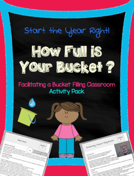 """How Full Is Your Bucket?"" Activity Pack"