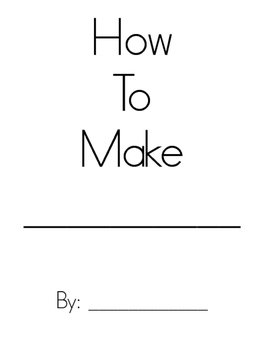 """""""How To"""" blank writing book"""