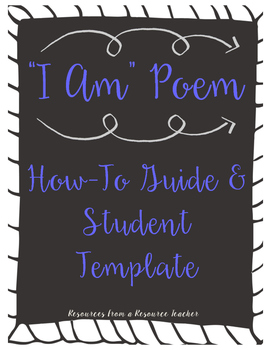 """I Am"" Poem - Template and Guide"