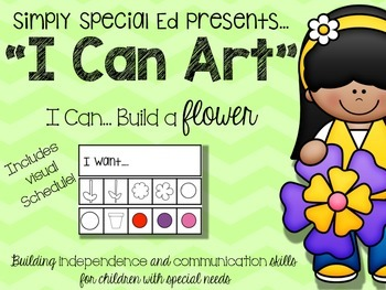 """I CAN"" Art- Build-a-Spring Flower"