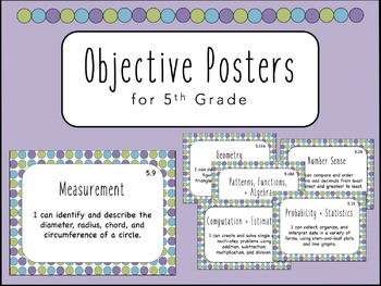 """I Can"" Objective Posters - 5th Grade Math {Virginia SOL}"