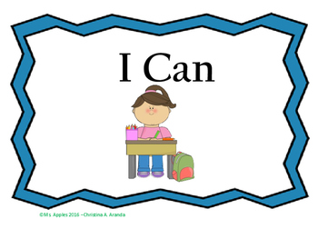 """I Can"" sight word mini book"