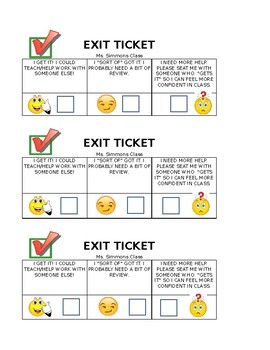 """I Get It"" Exit Ticket"