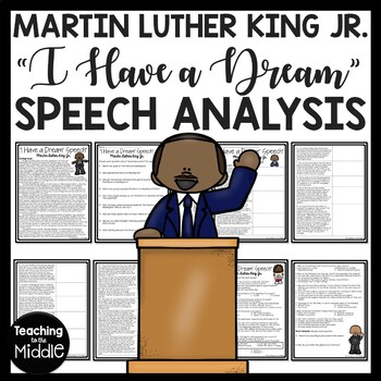 """I Have A Dream"" Speech Analysis Worksheet, Martin Luther"