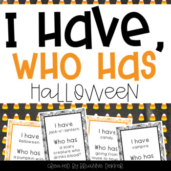 """""""I Have, Who Has?"""" - Halloween Vocab"""