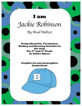 """""""I am Jackie Robinson"""" by Brad Meltzer - Vocab, Comprehens"""