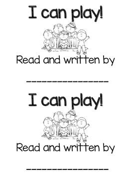 """I can play"" sight word book"
