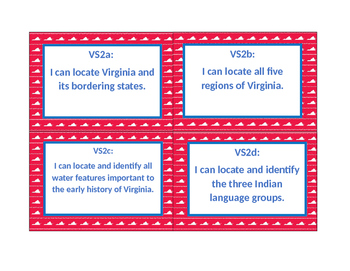 """I can"" statements-Virginia Studies"