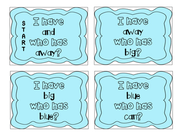"""I have, who has?"" Pre-Primer Sight Words"