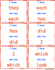 """I have who has"" Sight Word Game: Set 3"