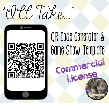 """""""I'll Take..."""" QR Code Generator and Game Show Templatae -"""