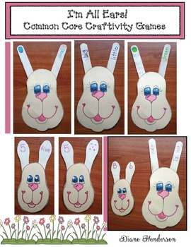"""""""I'm All Ears!"""" FREE Common Core Bunny Craftivity Games"""