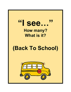 """""""I see""""- How many? What is it? (BACK TO SCHOOL)"""