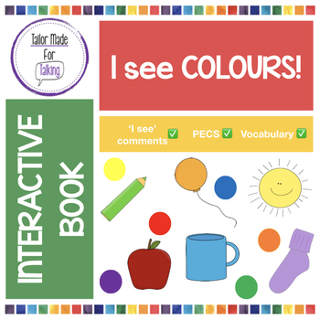 Interactive Book for 'I see' comments - I see colours