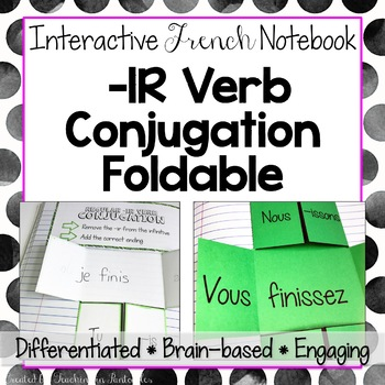 -IR Verb Conjugation Foldable - French Interactive Notebook